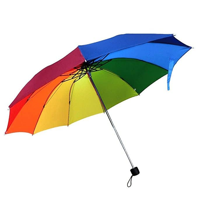 Monsoon travel packing list - Rainbow umbrella