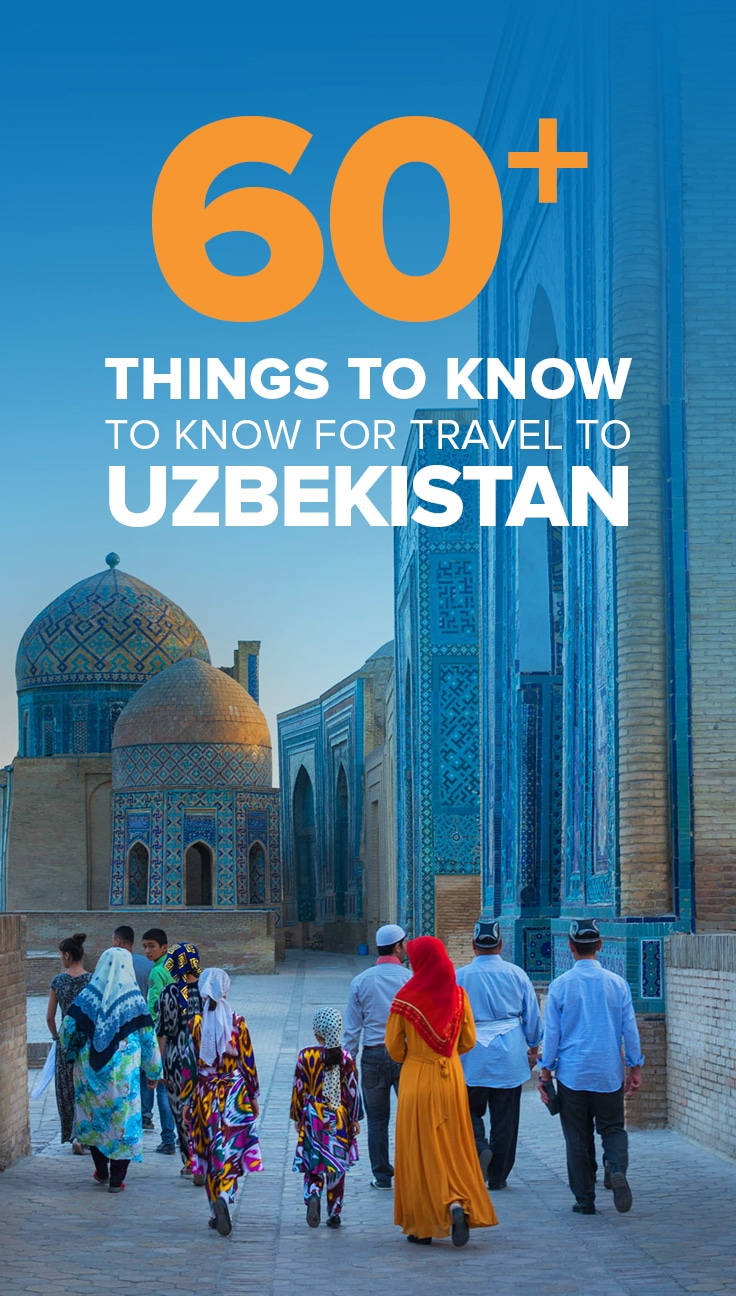 Pin for things to know before traveling to Uzbekistan