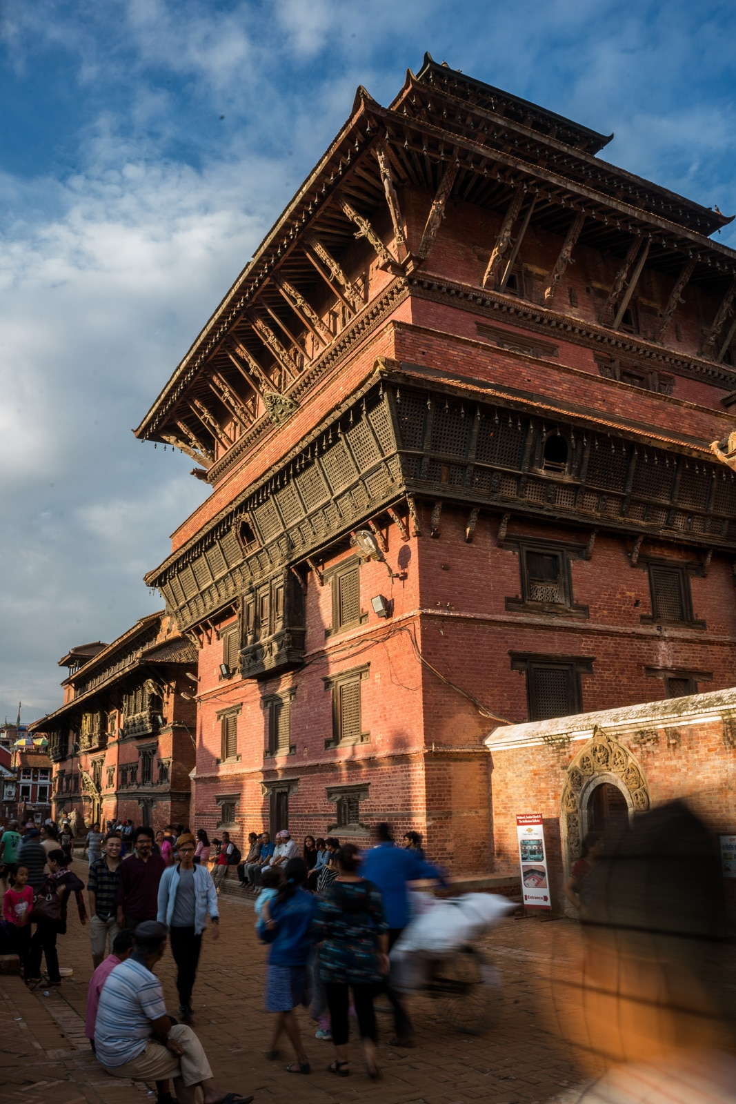 Warm colors during sunset at the famous Durbar Square in Patan, Nepal. Only half an hour's drive from the Thamel area of Kathmandu, Patan is a top destination for anyone traveling to the Kathmandu Valley.