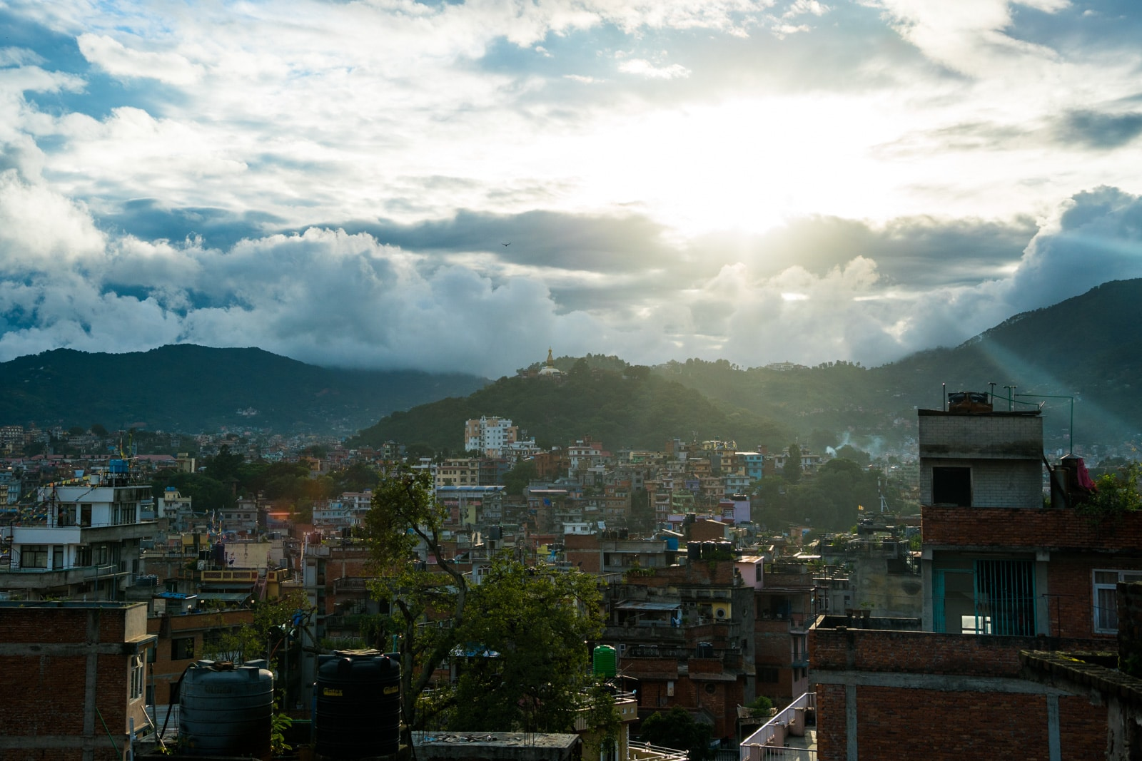 What it's like to travel in Nepal during monsoon - Sunset over Kathmandu - Lost With Purpose travel blog