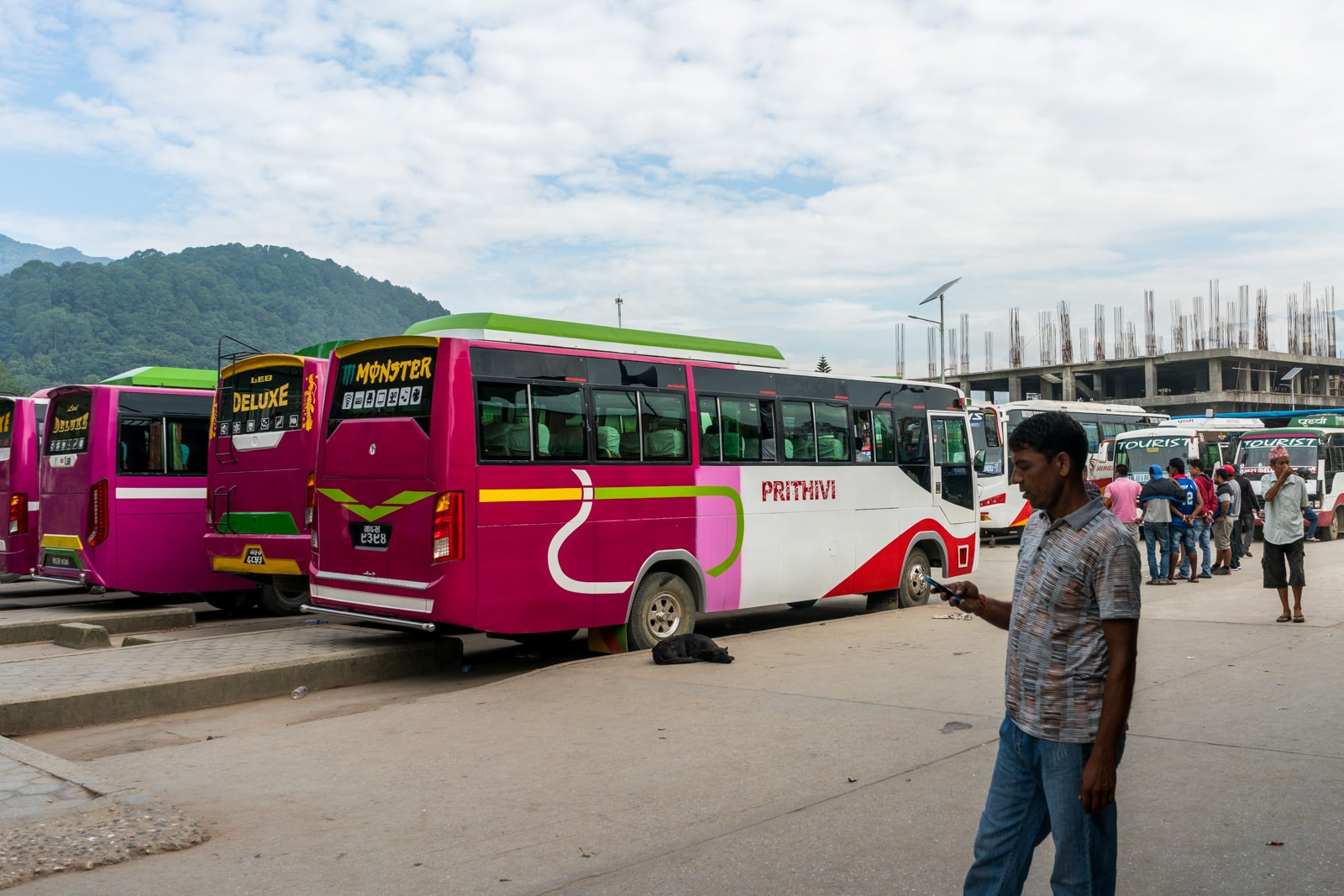 How to go overland at the Nepal - India border crossing at Birganj and Raxaul - Buses at the New Bus Station in Kathmandu - Lost With Purpose Travel Blog
