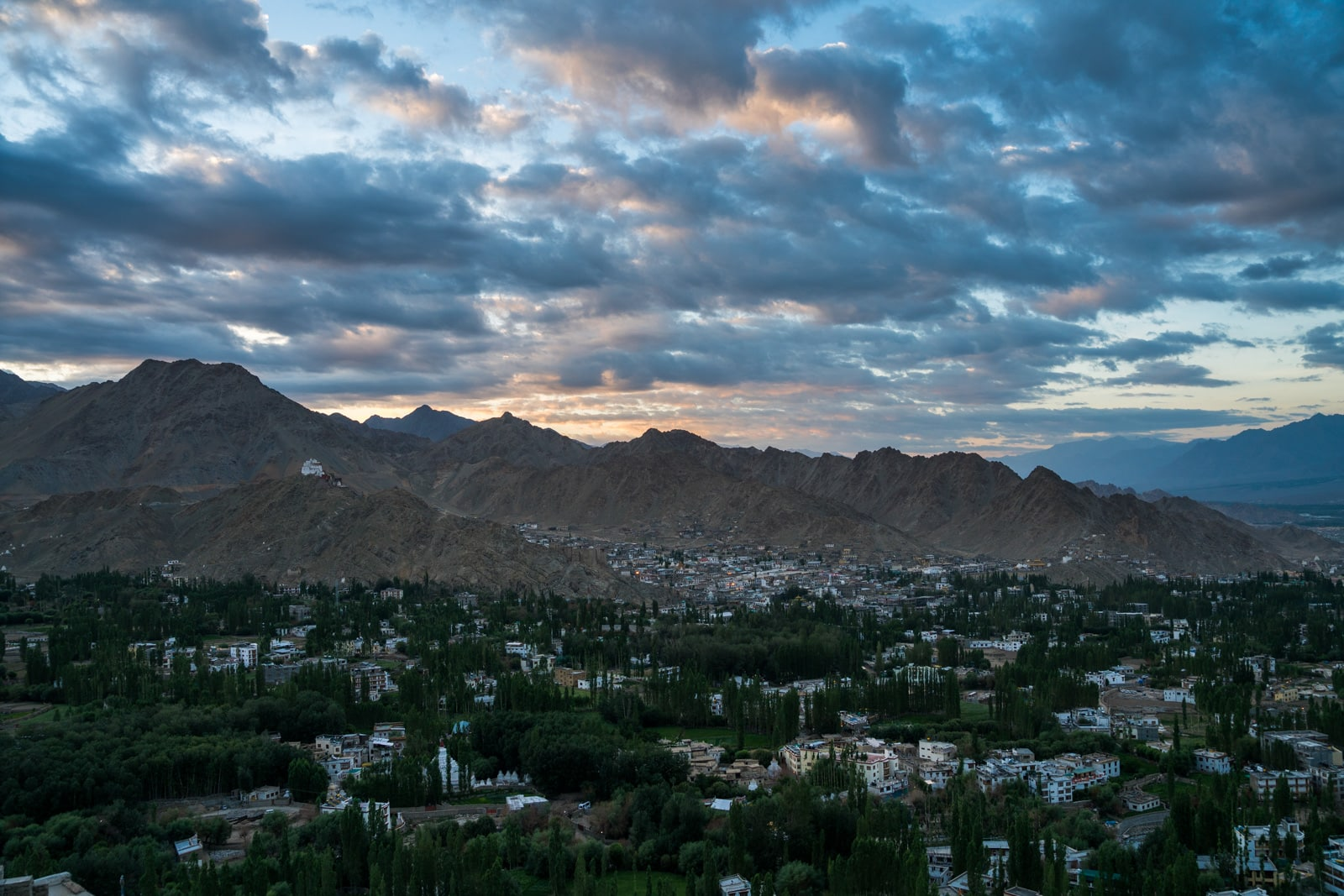 Hitchhiking the Leh - Manali highway - Leh at sunrise - Lost With Purpose travel blog