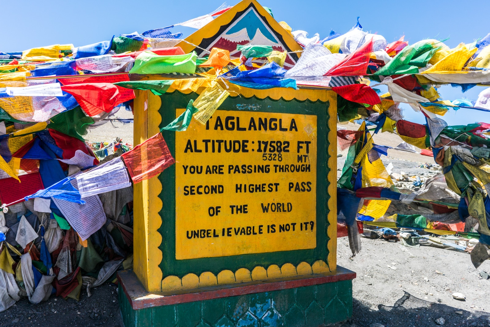 Hitchhiking the Leh - Manali highway - The top of Taglang La - Lost With Purpose travel blog