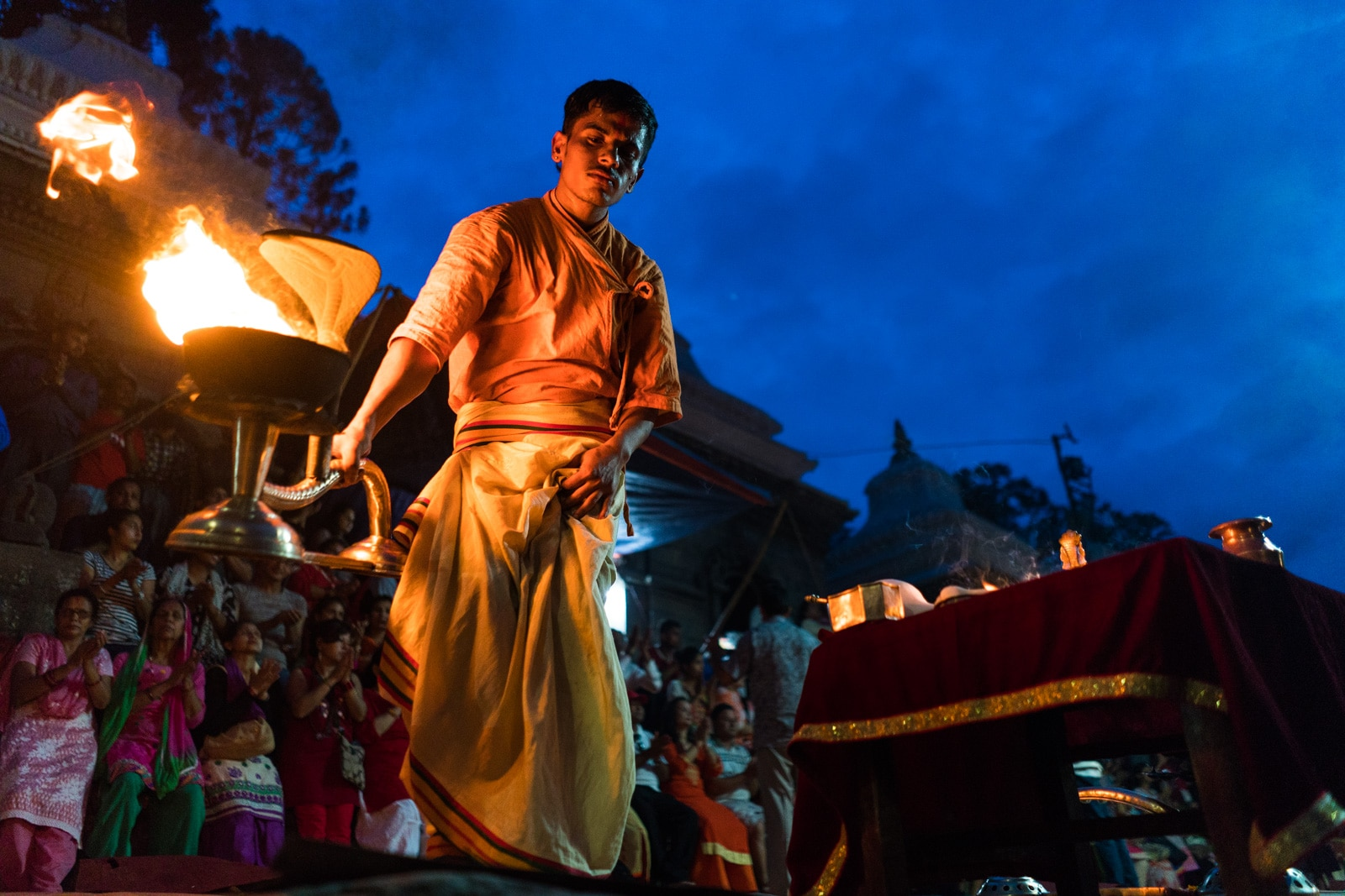 Things to see in Kathmandu, Nepal during monsoon - Evening Bagmati Aarti at Pashupatinath temple - Lost With Purpose travel blog