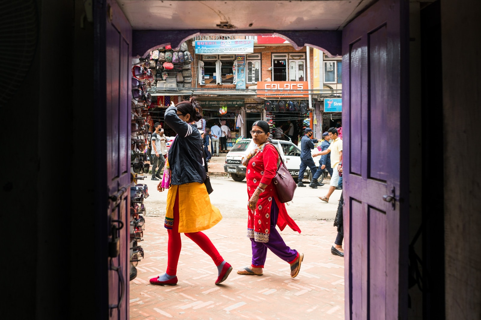 Traveling in Nepal during monsoon rainy season - Splashes of color on the streets of Patan - Lost With Purpose travel blog