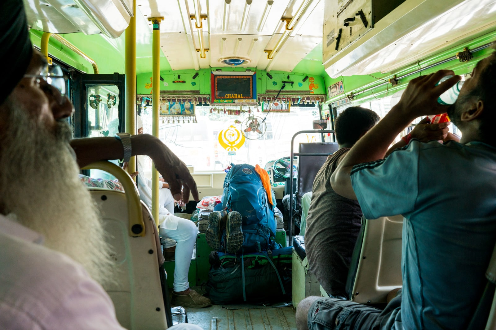 Crossing overland at the Wagah border between India and Pakistan - Public bus to Atari - Lost With Purpose travel blog