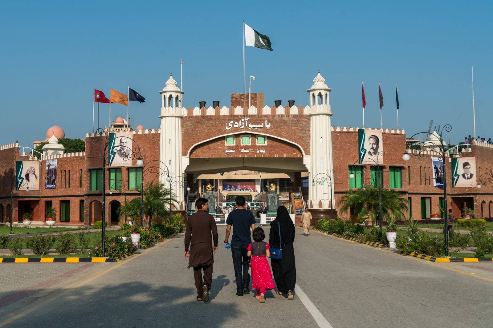 Report of crossing overland from Amritsar to Lahore at the Wagah border between India and Pakistan - The gate to the Wagah border area - Lost With Purpose travel blog