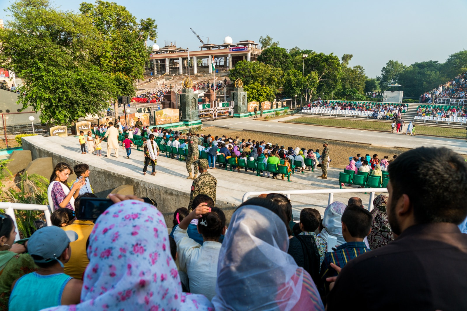 Crossing from Amritsar to Lahore at the Wagah border between India and Pakistan
