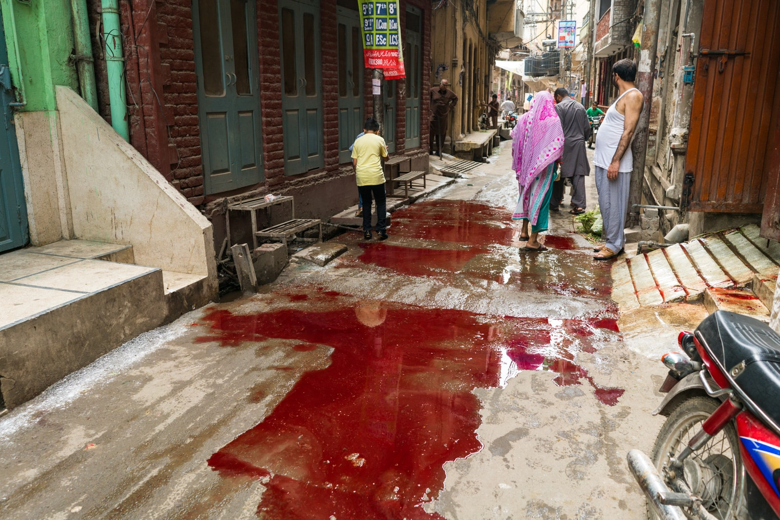 Celebrating Eid al-Adha in Lahore, Pakistan - Blood puddles on the streets - Lost With Purpose travel blog