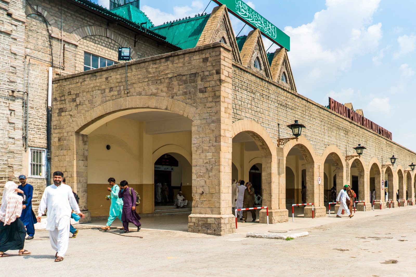 How to get a foreigner discount on train travel in Pakistan - Rawalpindi railway station - Lost With Purpose travel blog