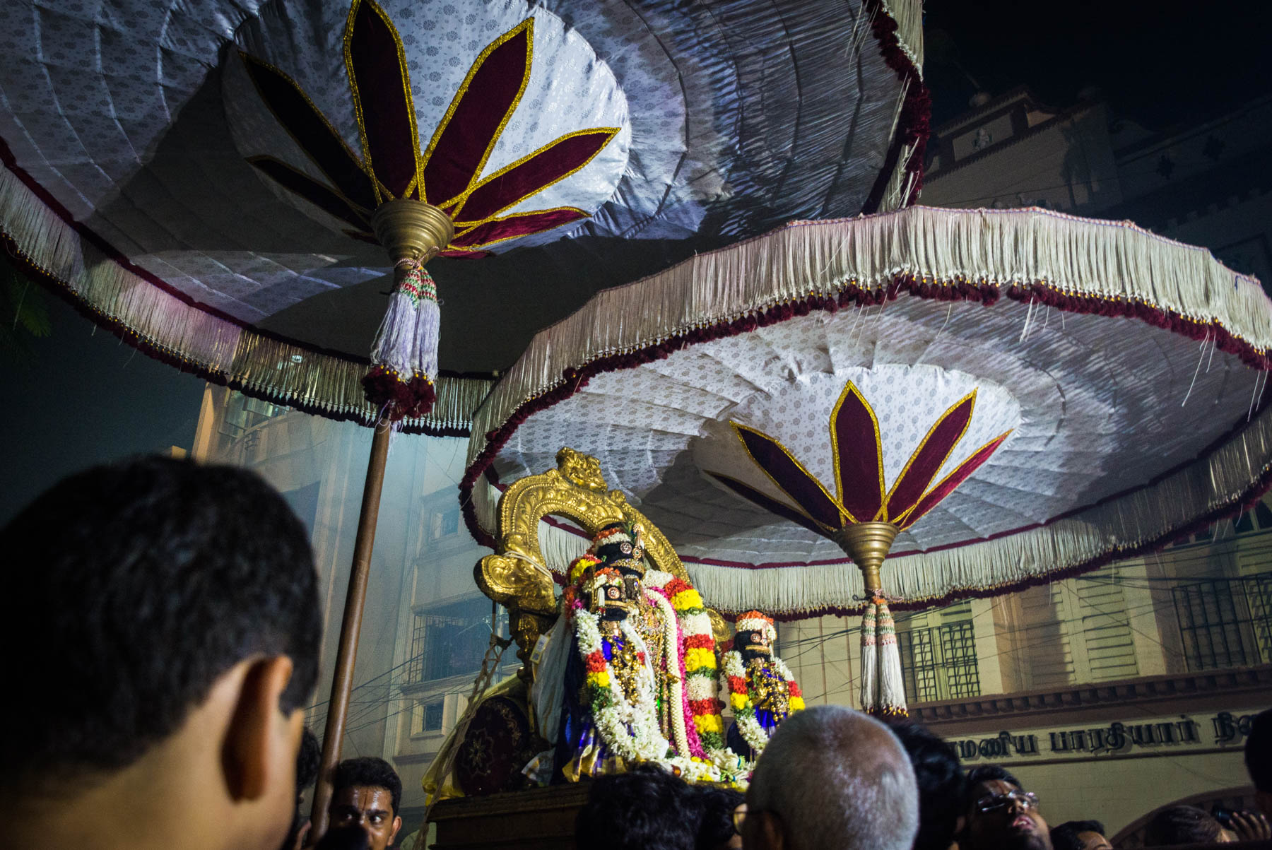 Why we fell in love with India - Parthasarathy procession during Diwali in Chennai, Tamil Nadu state, India - Lost With Purpose travel blog