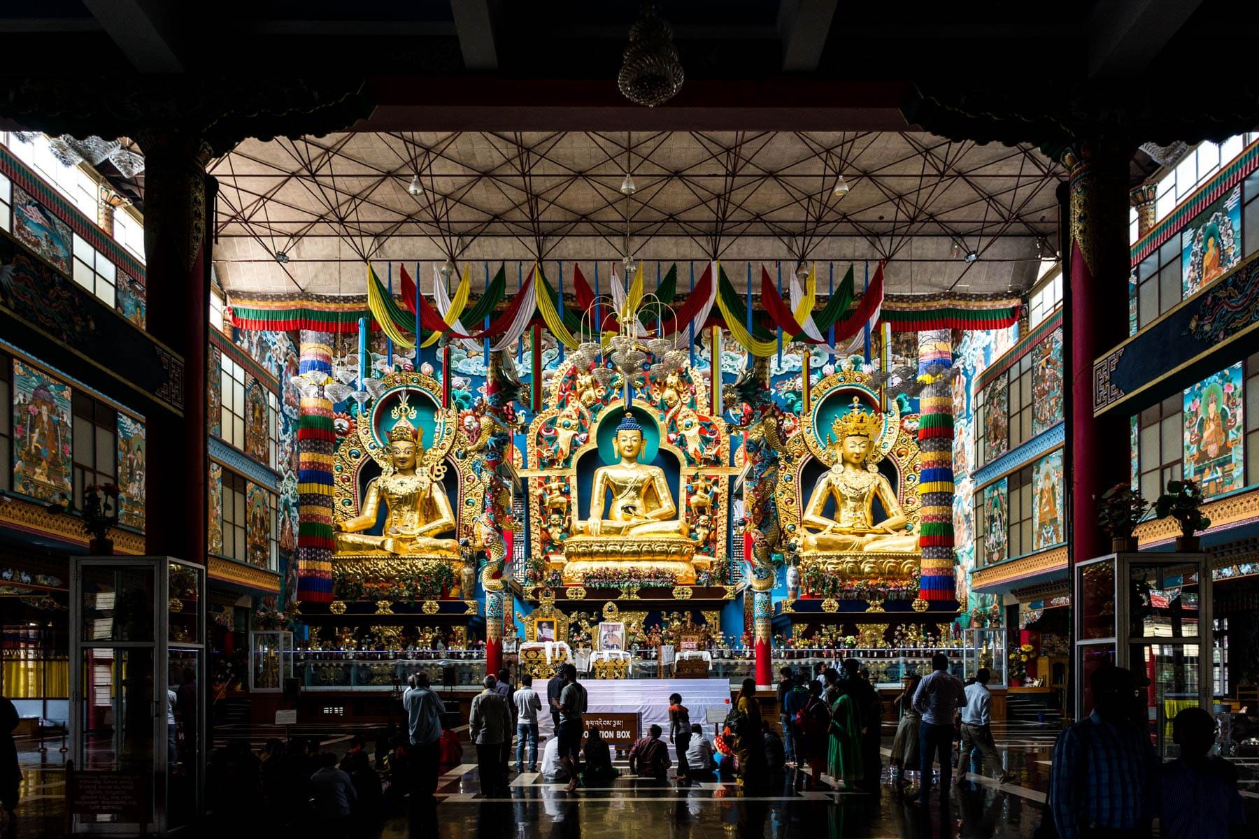 Why we fell in love with India - Golden Buddhas in Bylakuppe, Karnataka, South India - Lost With Purpose travel blog