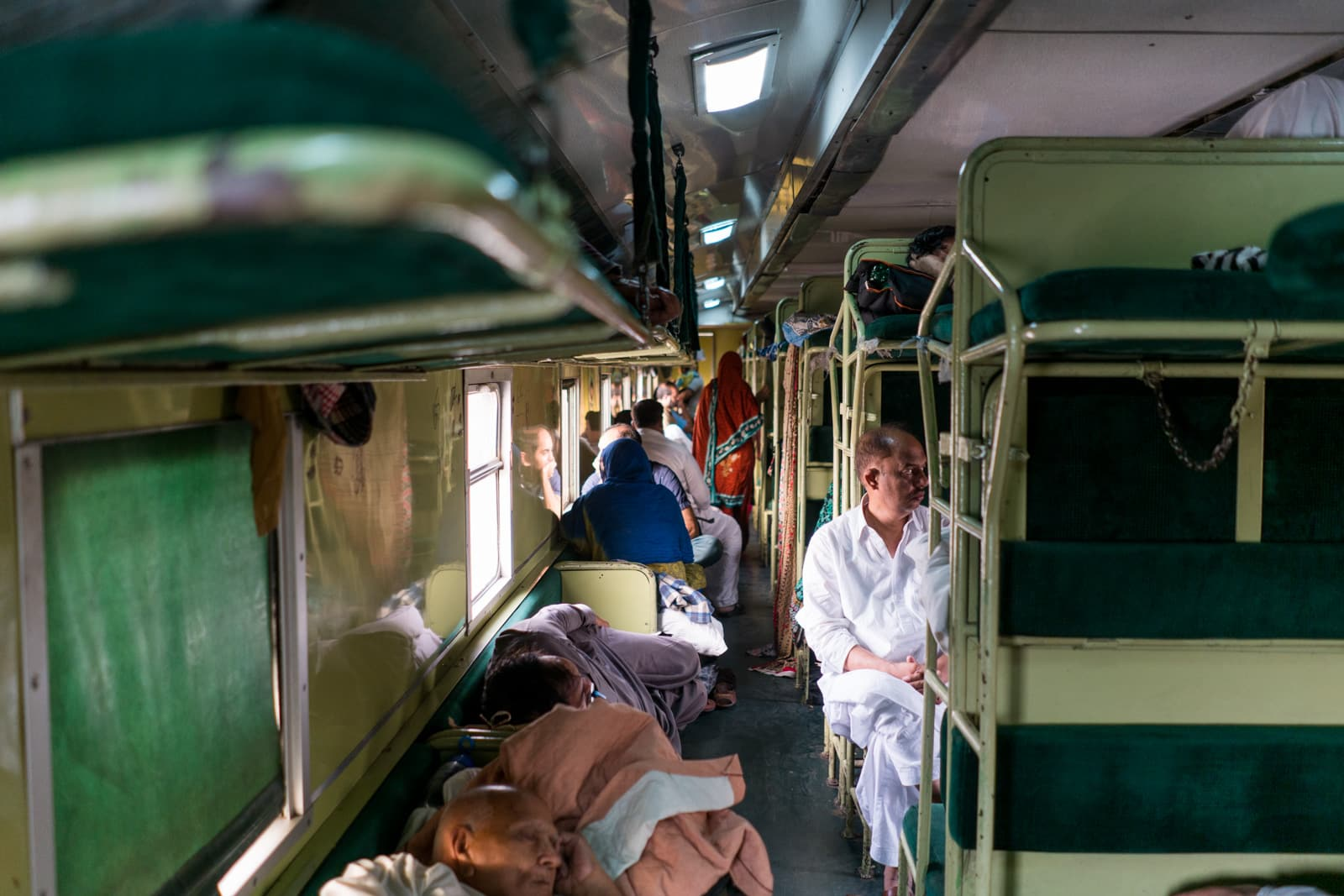 AC Standard class in a Pakistan train