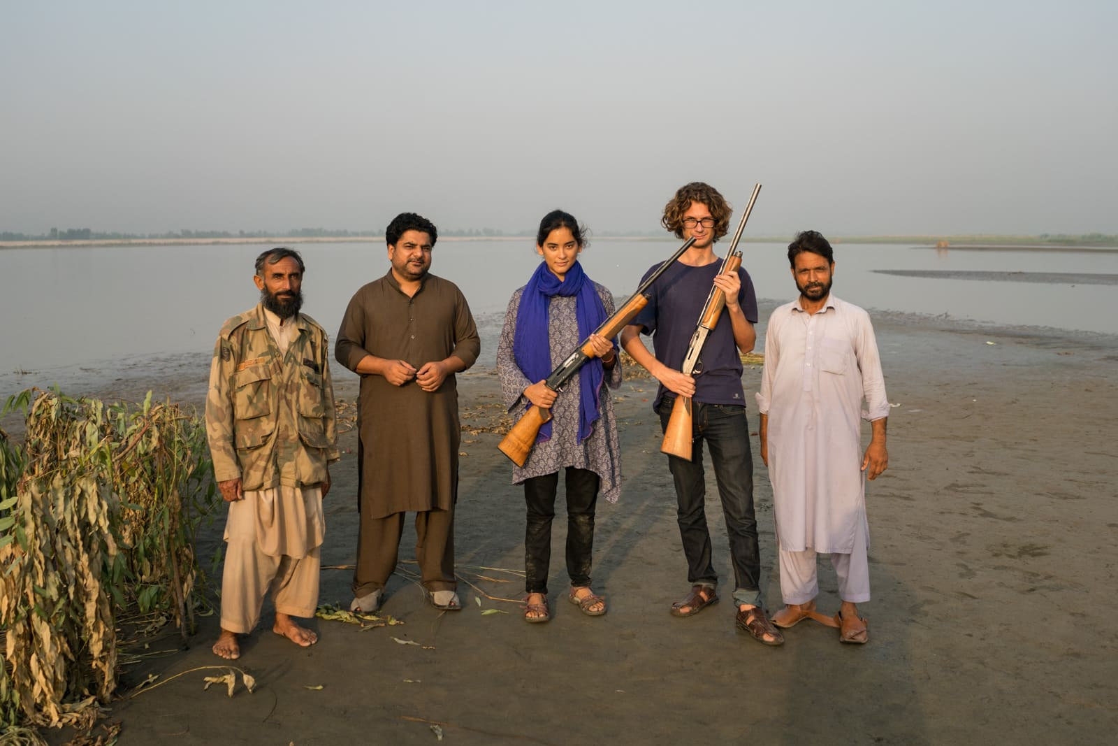 The hospitable Pashtuns of Peshawar, Pakistan - Squad of duck hunters on the Kabul river - Lost With Purpose travel blog