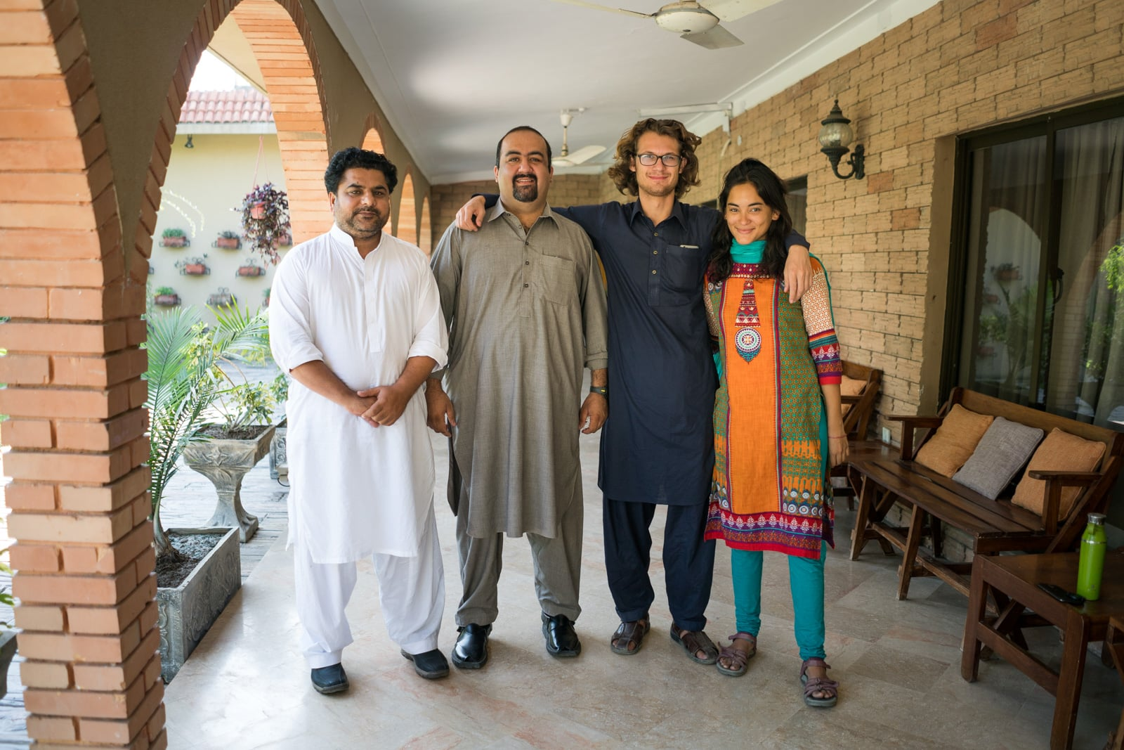 The most hospitable people in Pakistan - Group photo at Hamza's house in Mardan - Lost With Purpose travel blog