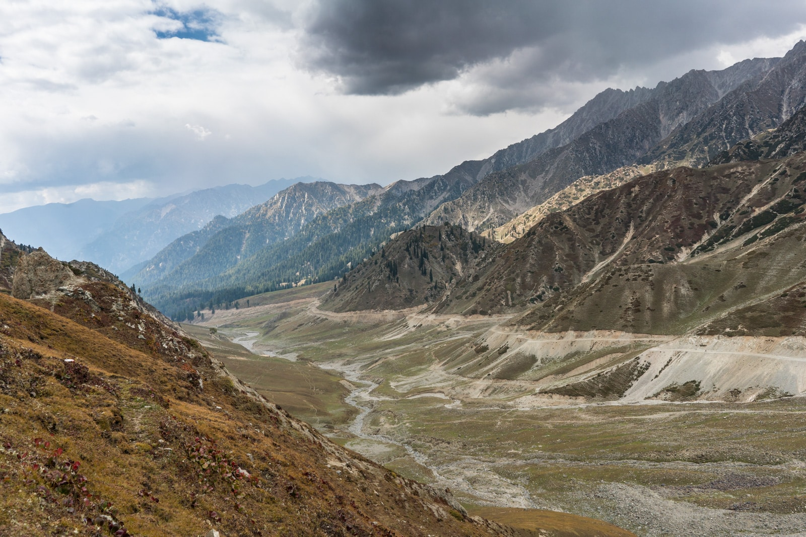 View of a mountain pass between Swat Valley and Upper Dir district