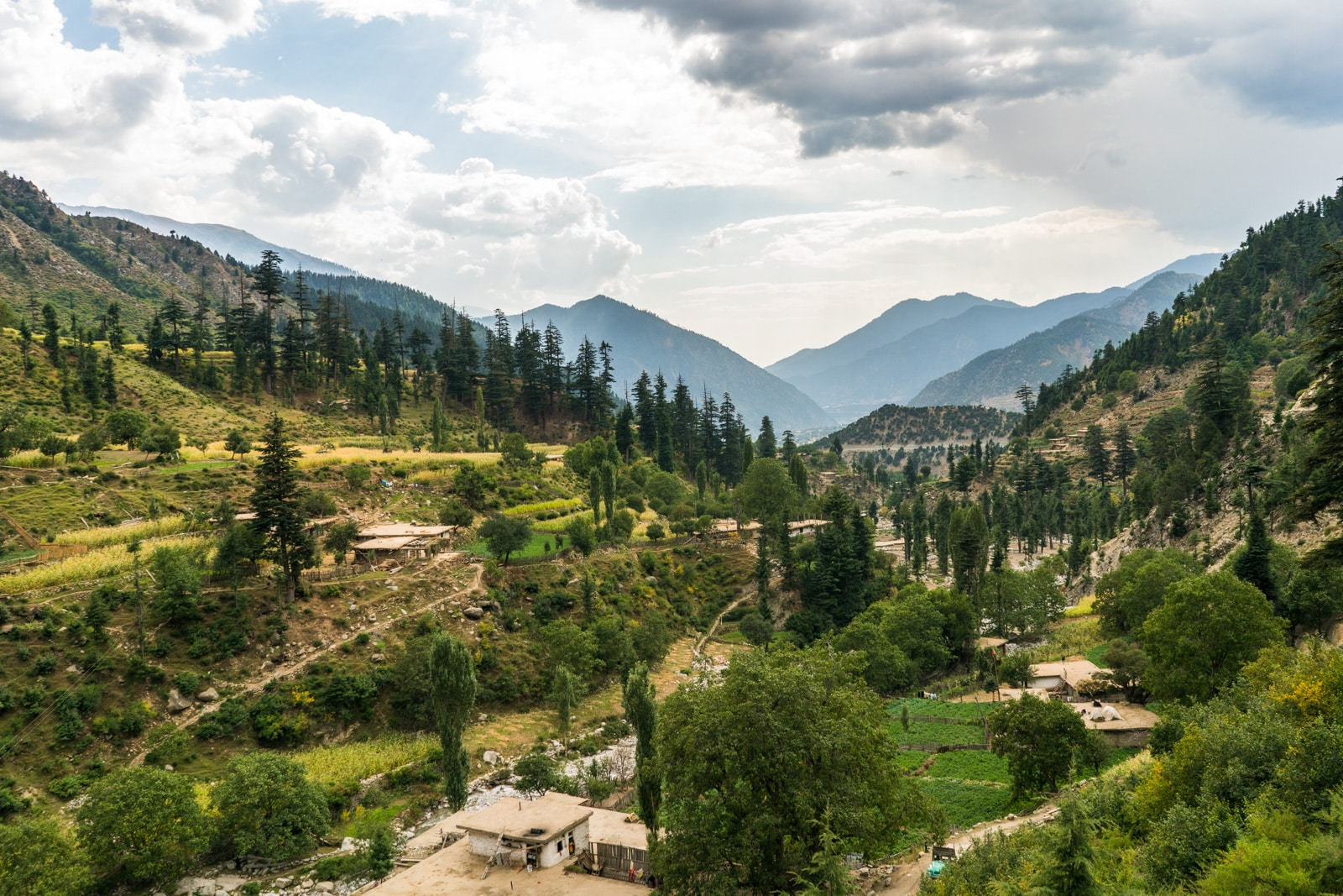 A small vilalges in the mountains of Upper Dir district in Pakistan