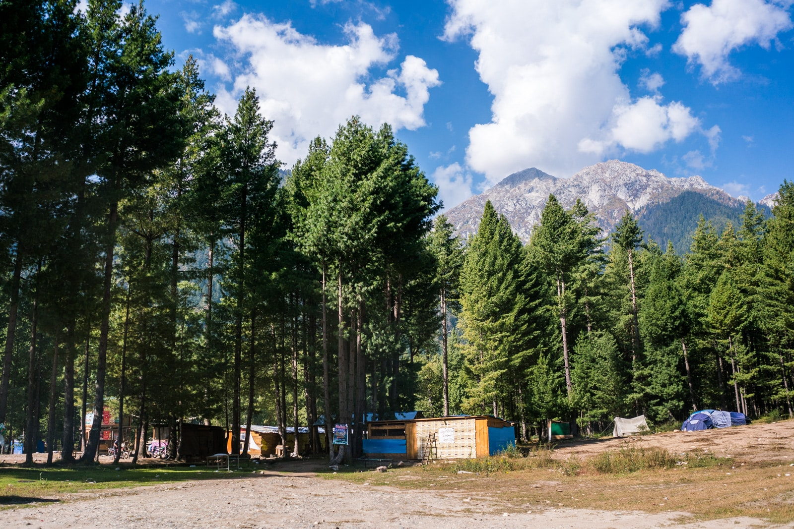 Small tent camp in Kumrat Valley in Pakistan