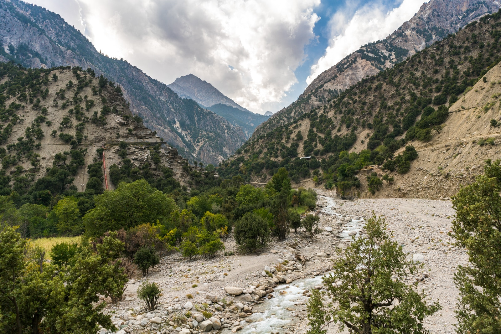 View of Rumboor Valley in Kalash, Pakistan