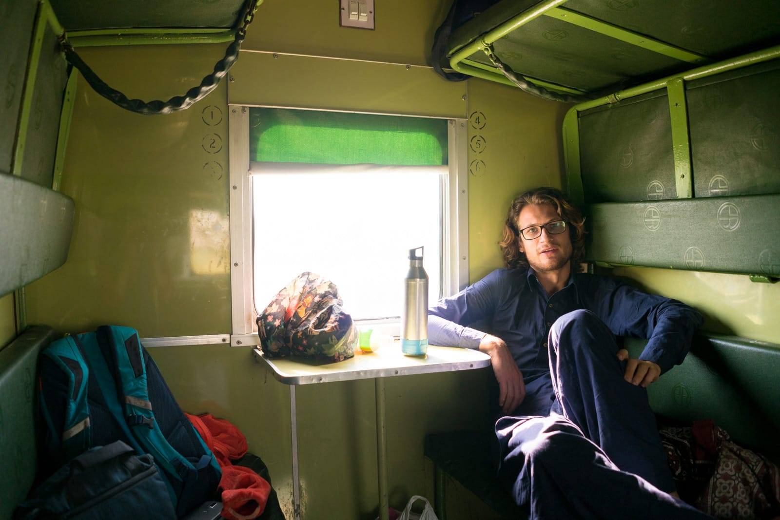 Guide to train travel in Pakistan - AC standard train class - Lost With Purpose travel blog
