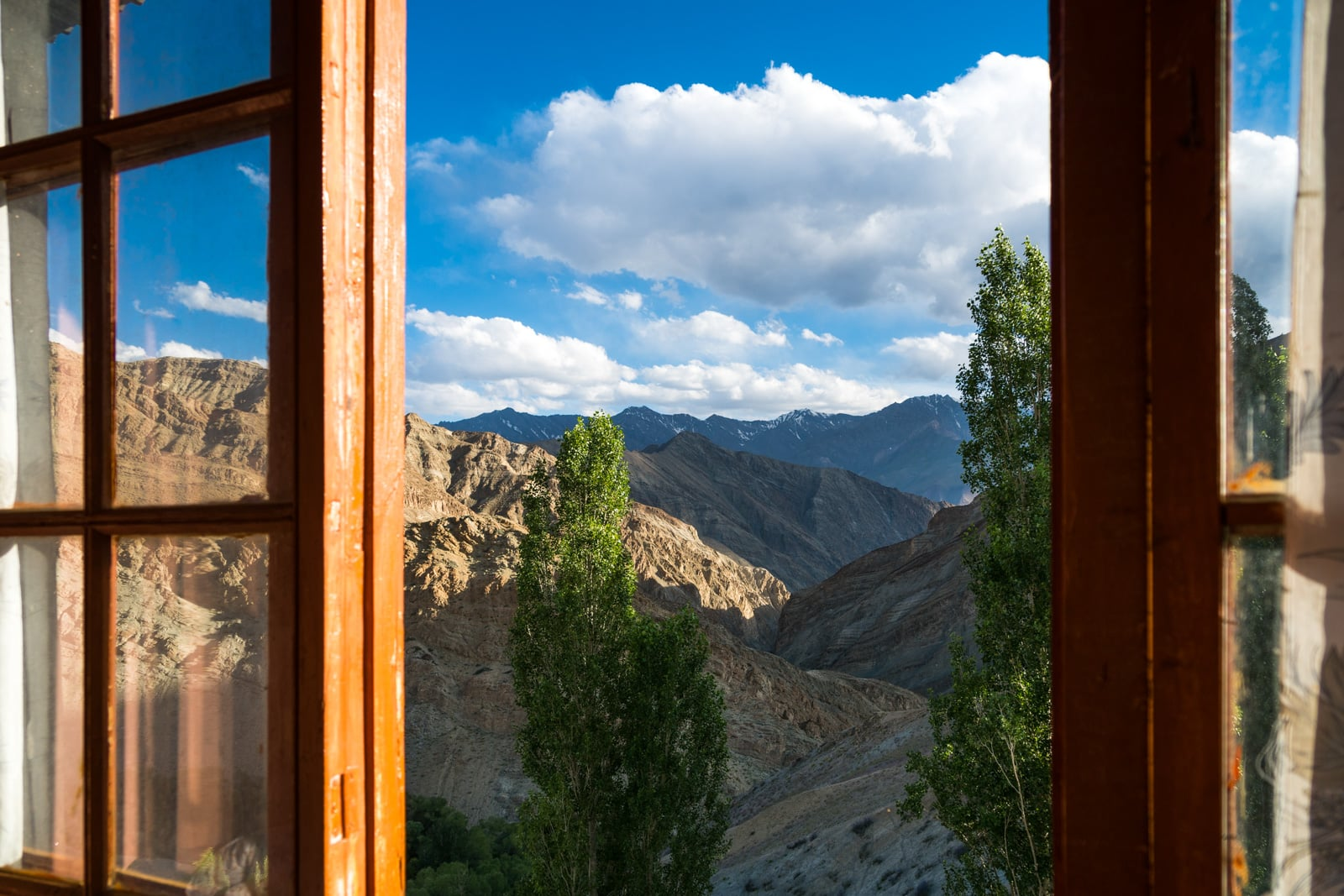 Short 3-day itinerary and guide to the Sham Valley trek in Ladakh, India - View out a homestay window in Yangthang village - Lost With Purpose travel blog