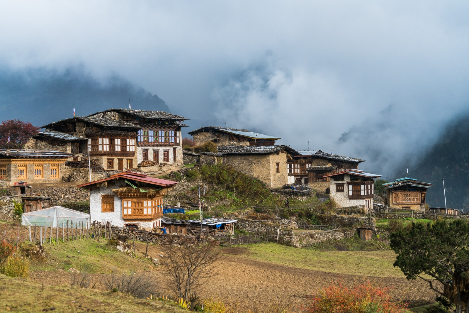Photos of the Royal Highlander Festival in Bhutan - Laya settlement in the clouds - Lost With Purpose travel blog
