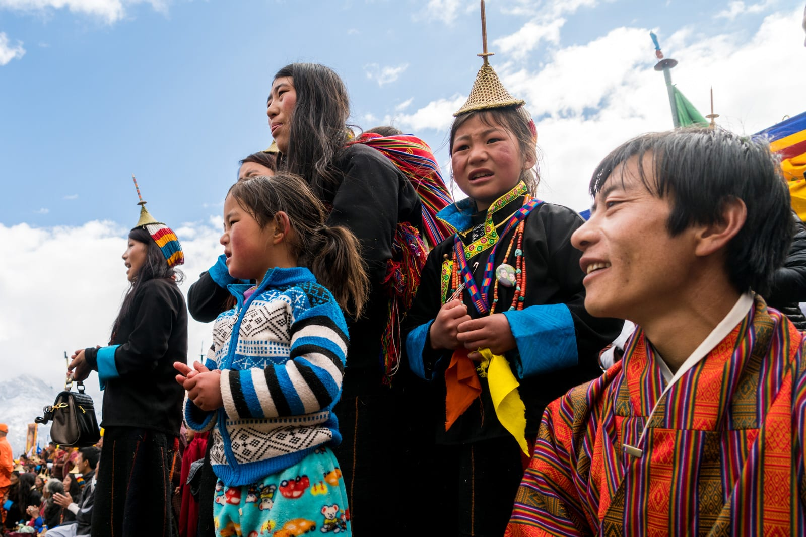 Guide to the Royal Highlander Festival in Bhutan - Excited crowd cheering - Lost With Purpose travel blog