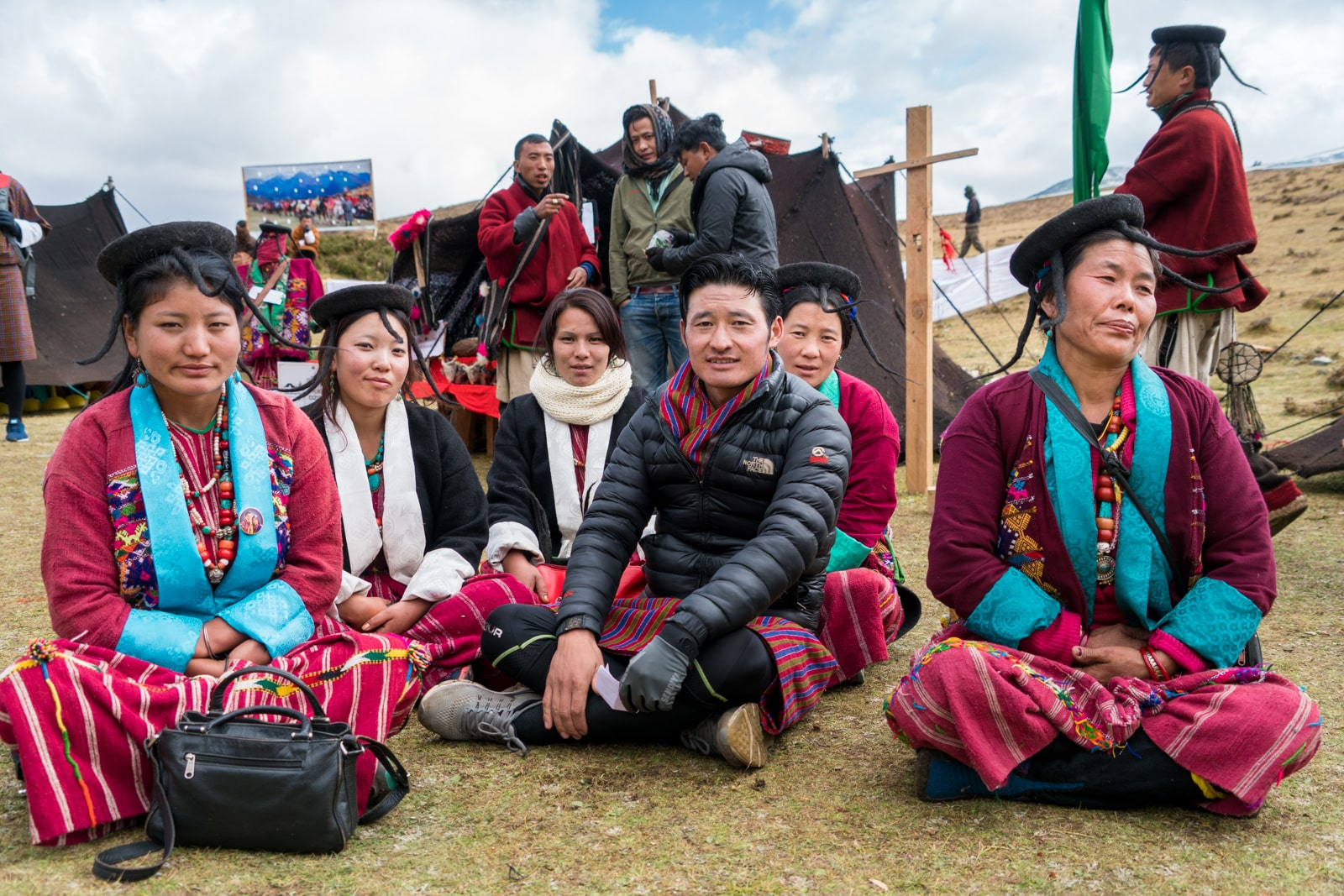 Photos of the Royal Highlander Festival in Laya, Bhutan - Family of Monpa people - Lost With Purpose travel blog