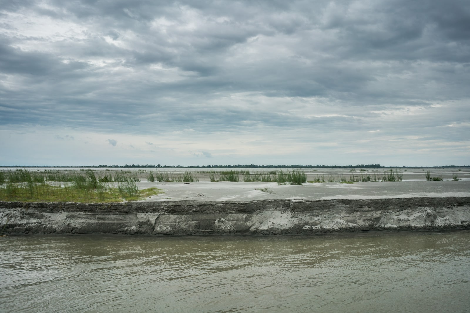 Eroding banks of Majuli river island