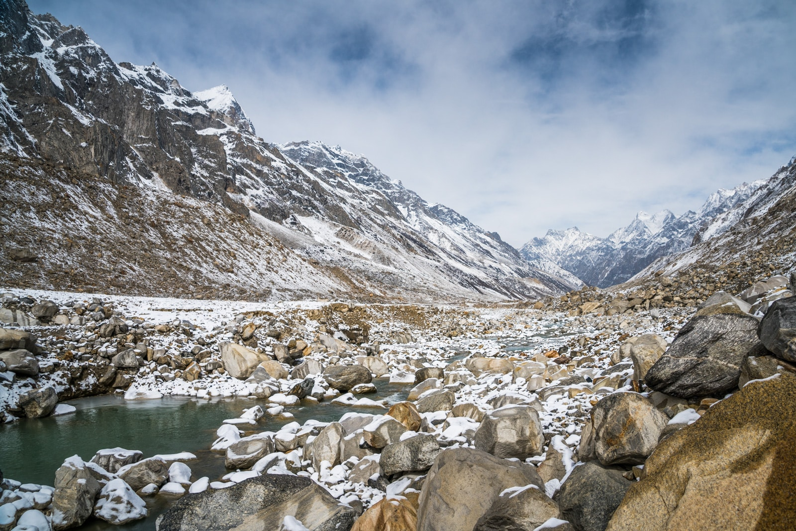 Gomukh glacier, start of the Ganges/Ganga river in Uttarakhand, India