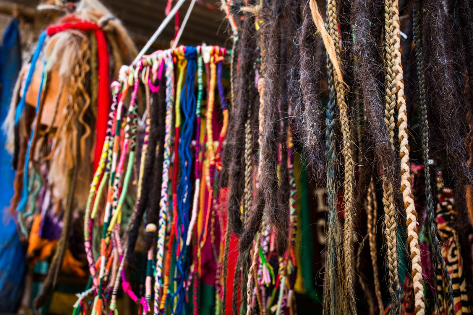 Guide to weed in India - Dreads for sale in Arambol beach, Goa - Lost With Purpose travel blog