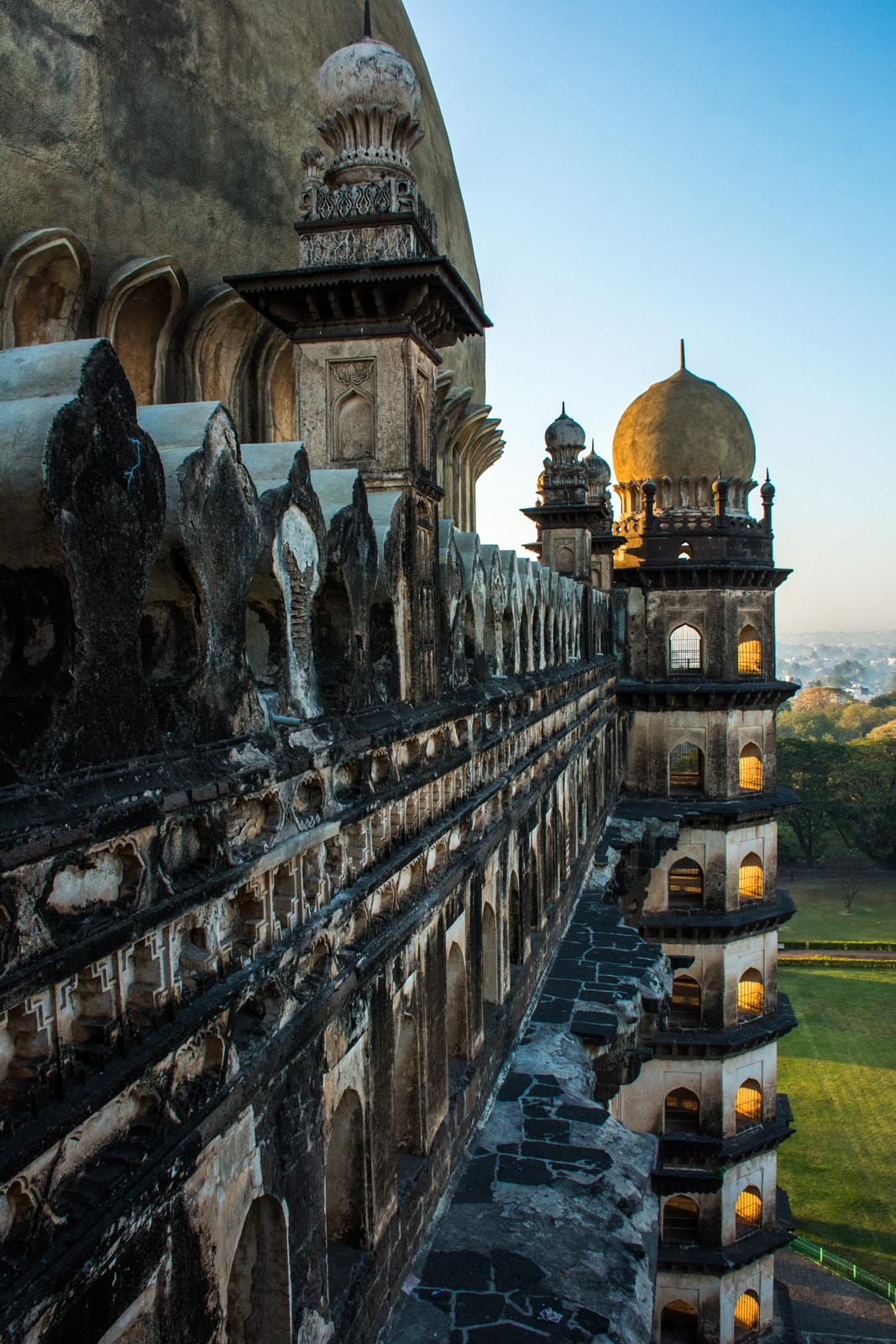 Sunrise over Gol Gumbaz in Bijapur, Karnataka is an off the beaten track highlight not to be missed!