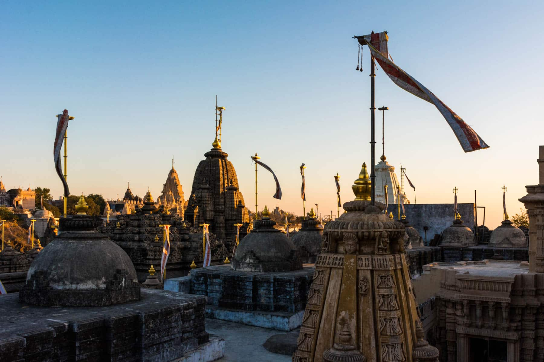 Our favorite off the beaten track destinations in India - Sunrise over Jain temple tops in Palitana, India - Lost With Purpose travel blog