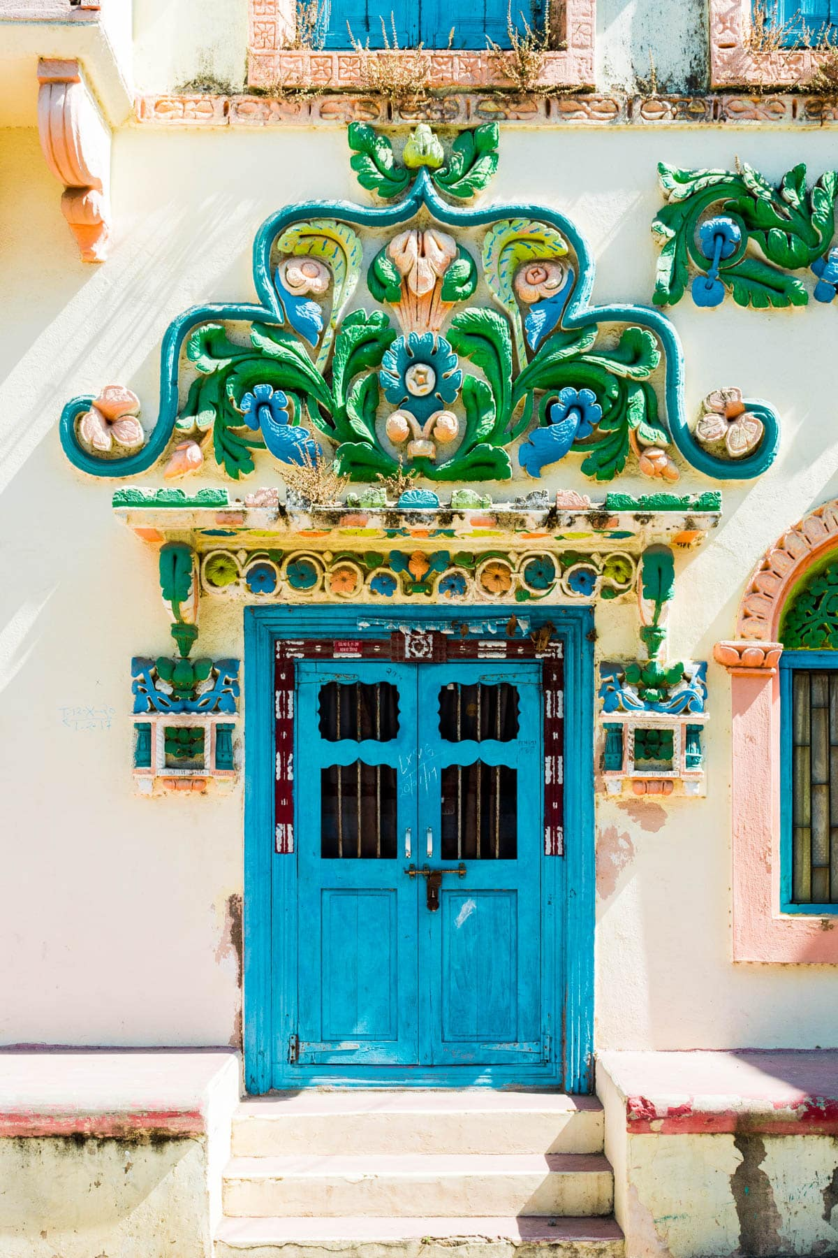 Diu, an island off the west coast of India, is filled with colorful doors and pretty Portuguese architecture. It's the perfect place to spend a few days relaxing and getting away from the chaos of India.