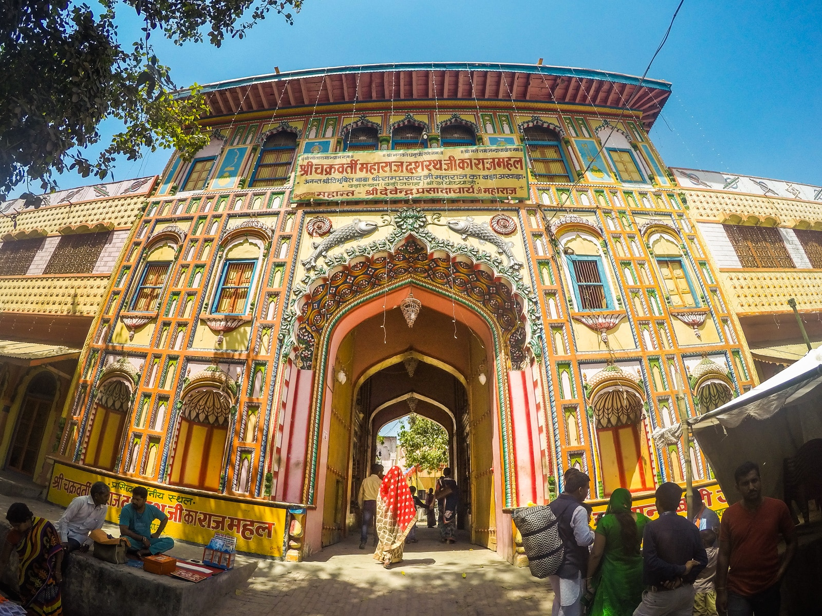 Top off the beaten track destinations in India - A colorful temple in Ayodhya, Uttar Pradesh - Lost With Purpose travel blog