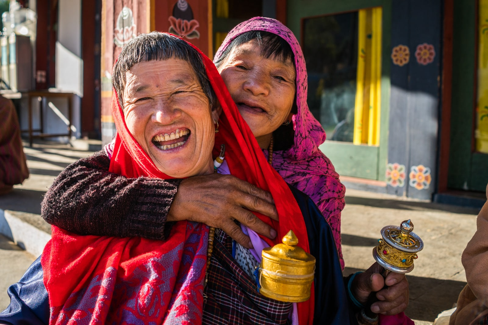 Meeting local people in Bhutan - The cutest old ladies in Thimphu - Lost With Purpose travel blog