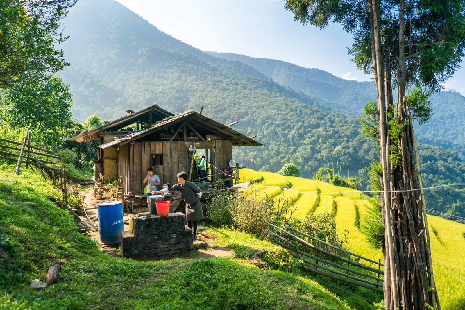Do you need a guided tour in Bhutan? - Local house in rice fields outside of Tingtibi in Zhemgang district - Lost With Purpose travel blog
