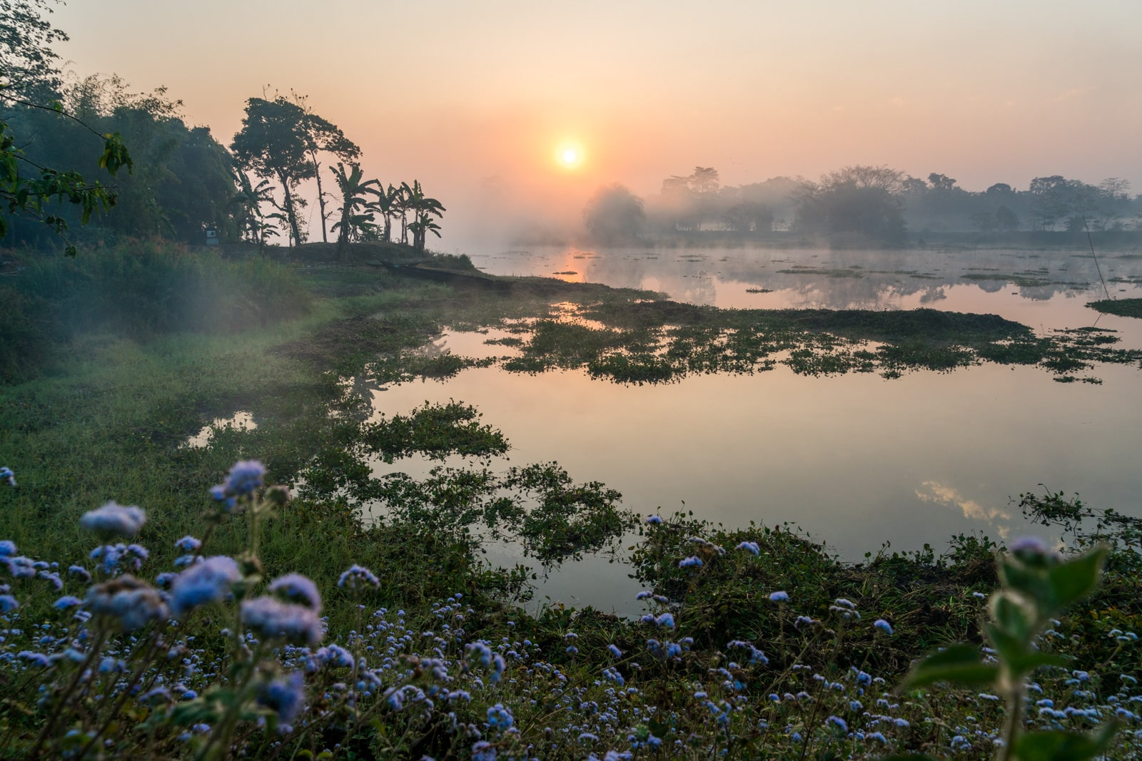 Breaking up on the road - Majuli river island at sunrise - Lost With Purpose travel blog