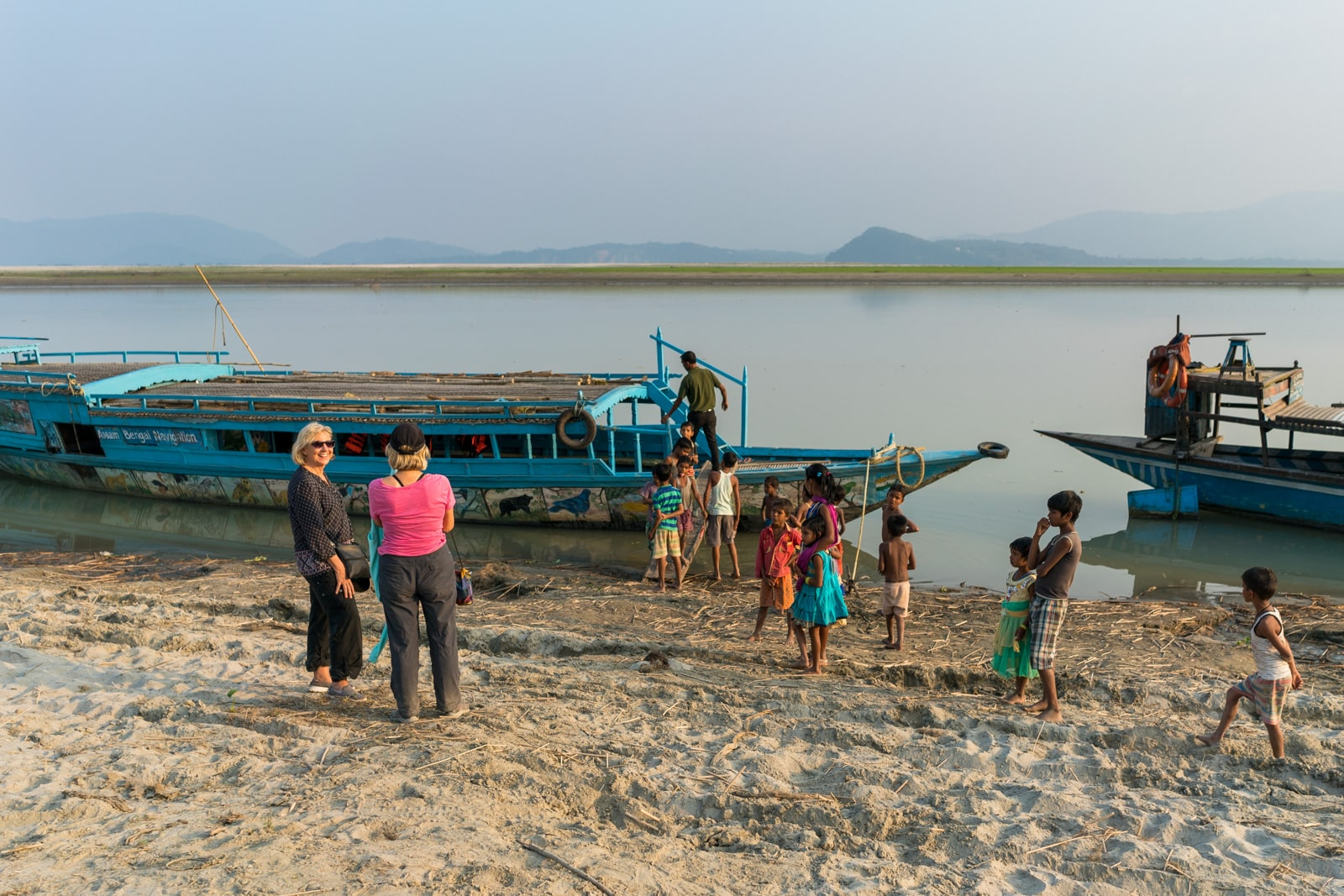 River cruise on the Brahmaputra with Assam Bengal Navigation - Blue country boat - Lost With Purpose travel blog
