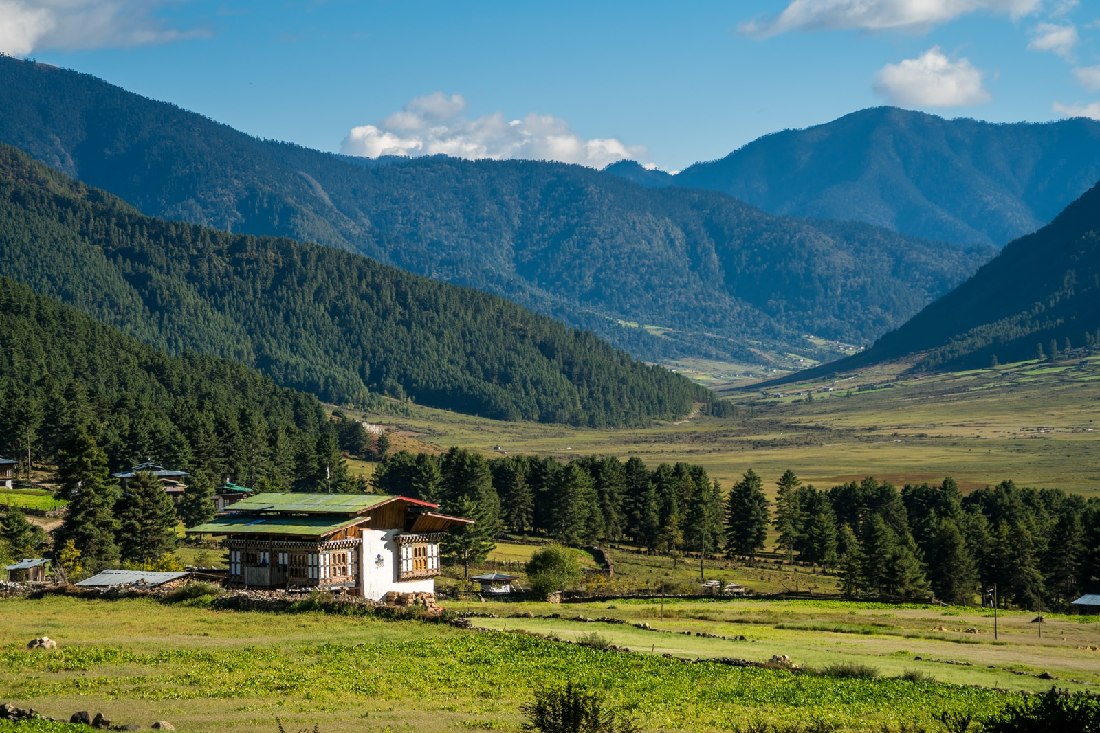 Is Bhutan worth $250 per day? - Traditional house in Phobjikha Valley - Lost With Purpose travel blog