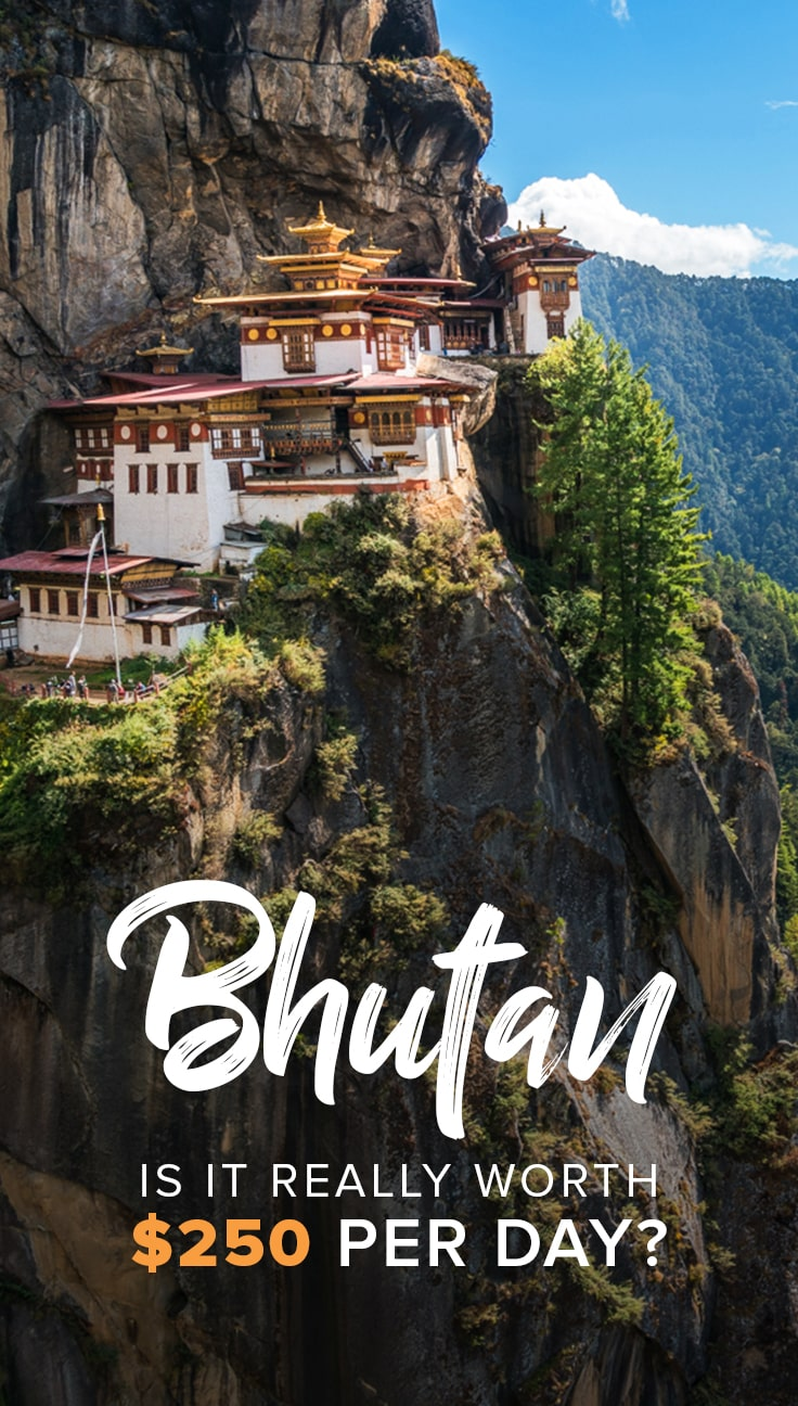 Considering travel to Bhutan, but unsure about whether or not you're okay with paying $200 to $250 per day? I spent 3 weeks in Bhutan, and was very critical about the value of what Bhutan has to offer. Click through to find out my opinion on whether or not Bhutan is worth the money.
