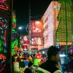 Christmas in Kolkata - New Market light decorations with Santa Claus and Spiderman - Lost With Purpose travel blog