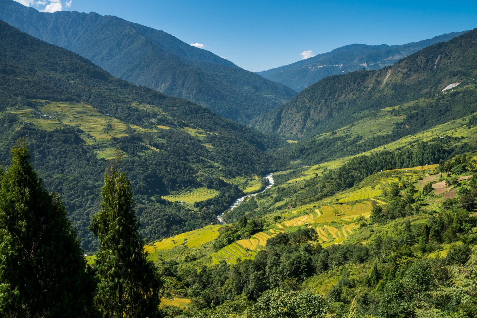 Where to go off the beaten track in Bhutan - Views on the road to Kuengarabten village - Lost With Purpose travel blog