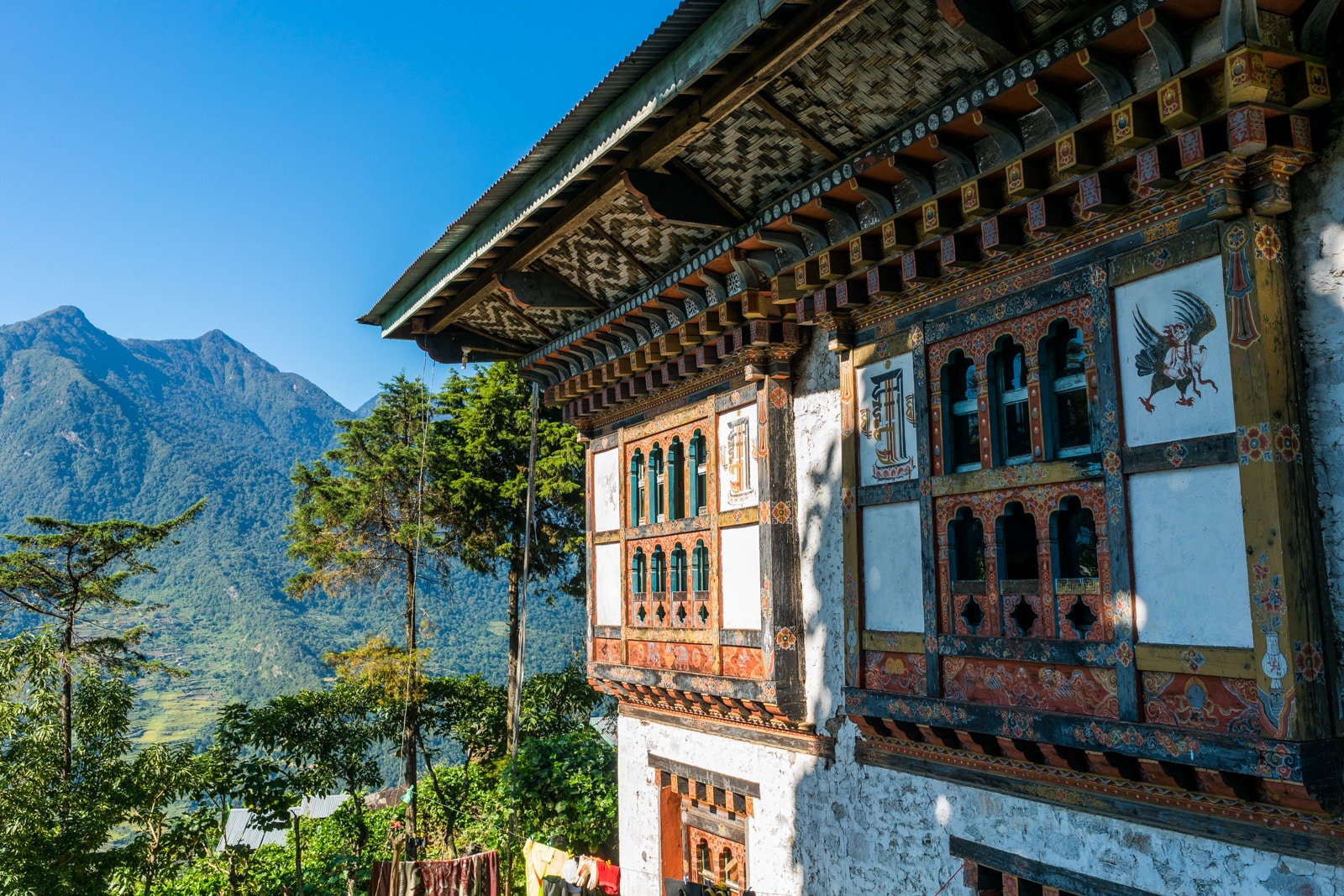 Off the beaten track places in Bhutan - A traditional Bhutanese house in Kuengarabten village - Lost With Purpose travel blog