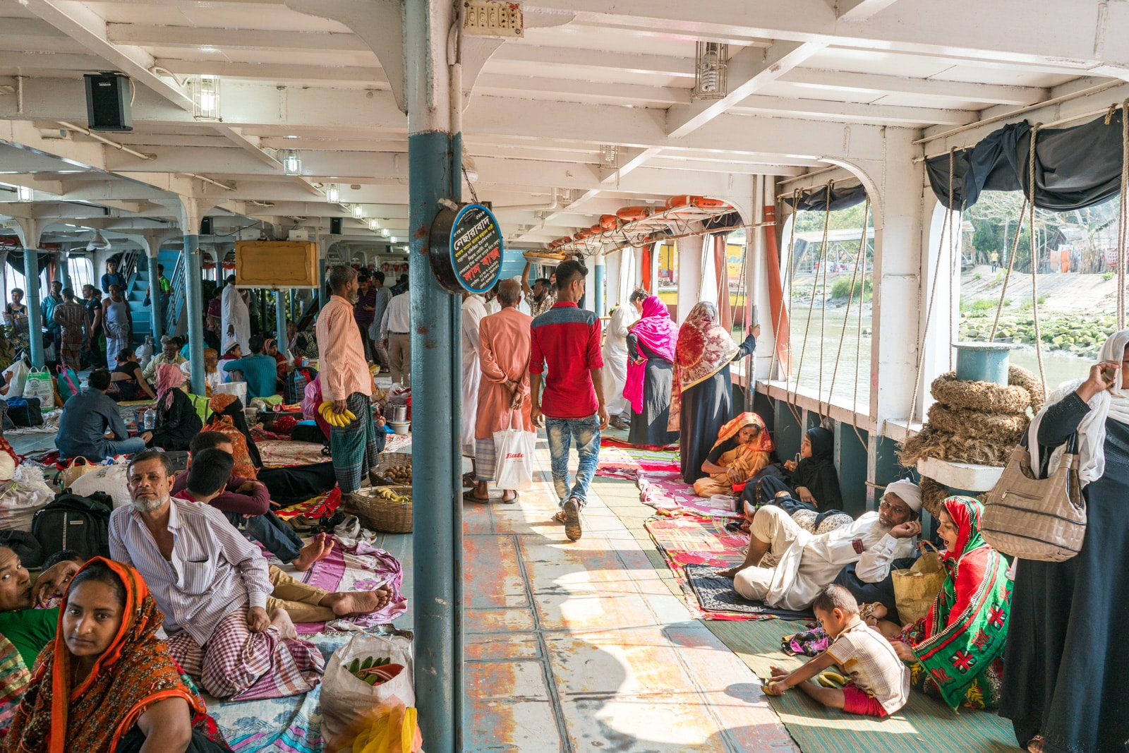 Guide to launches in Bangladesh - Deck class/floor class of launch - Lost With Purpose travel blog
