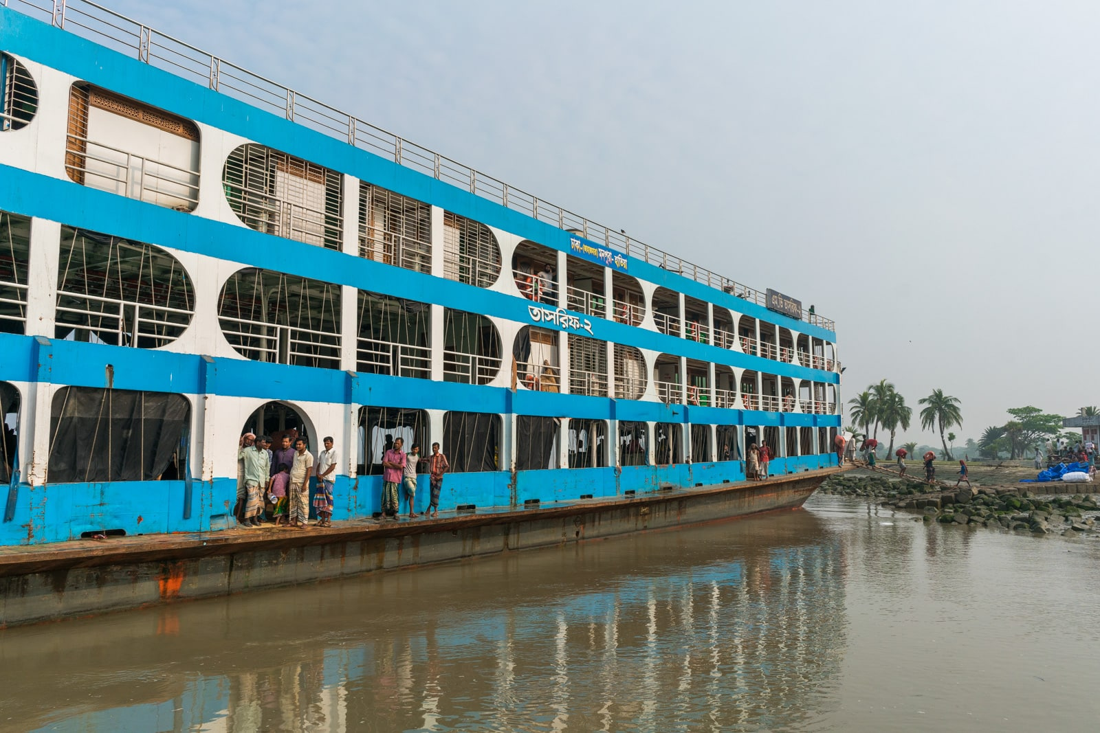 How to reach Nijhum Dwip from Dhaka - Launch boat at Tomoroddi ghat - Lost With Purpose travel blog