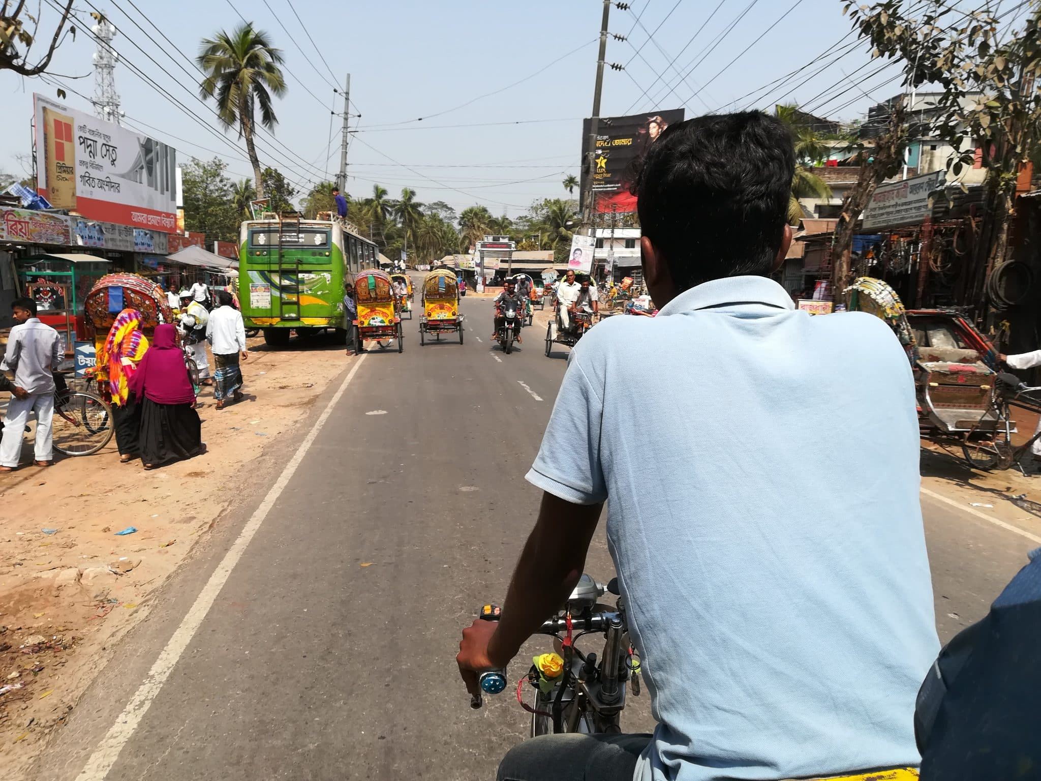 How to reach Hularhat from Khulna - Rickshaw to Hularhat launch ghat - Lost With Purpose travel blog
