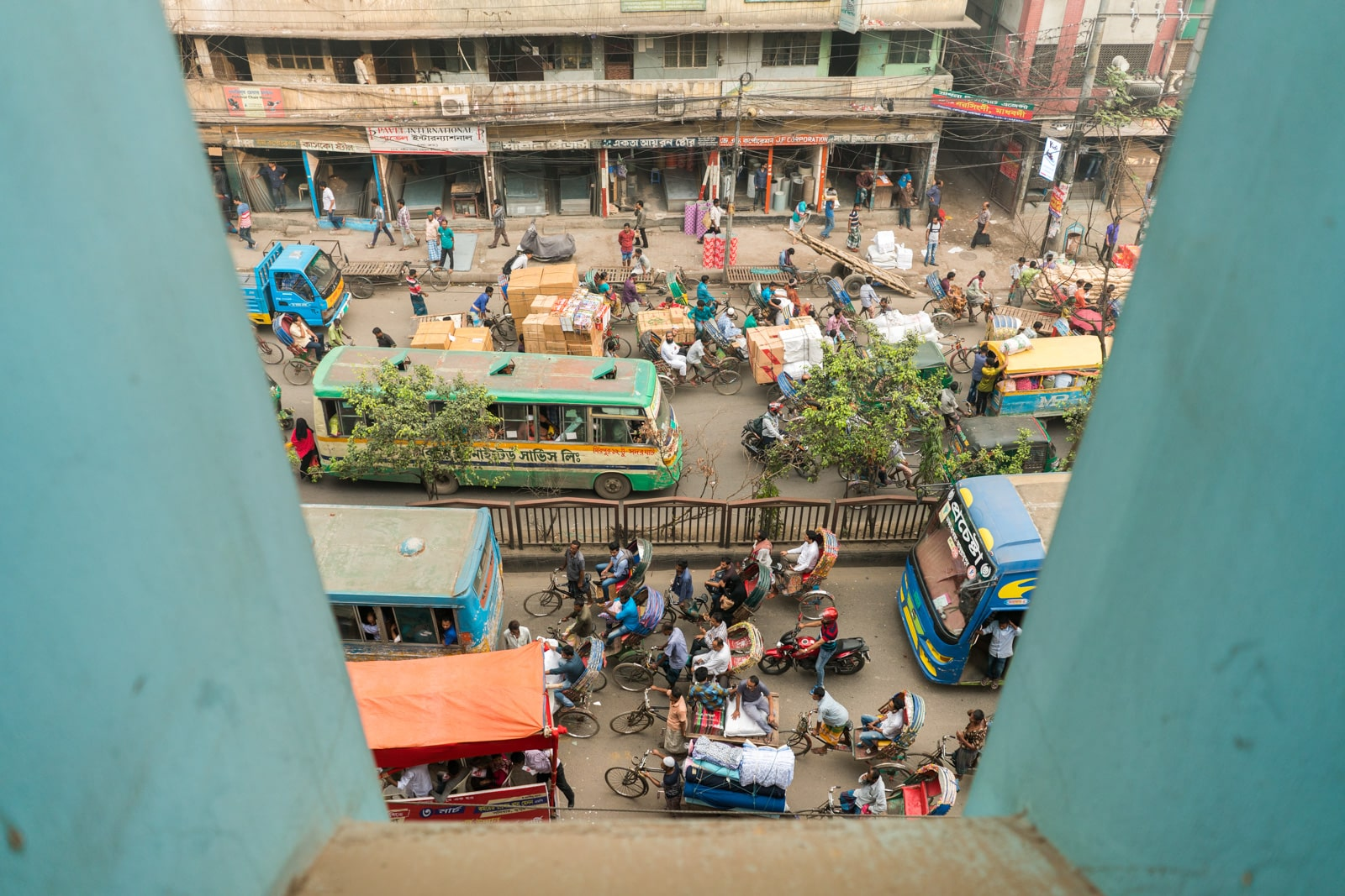 Backpacking in Bangladesh travel guide - View from window of Al Razzak Hotel in Dhaka - Lost With Purpose travel blog