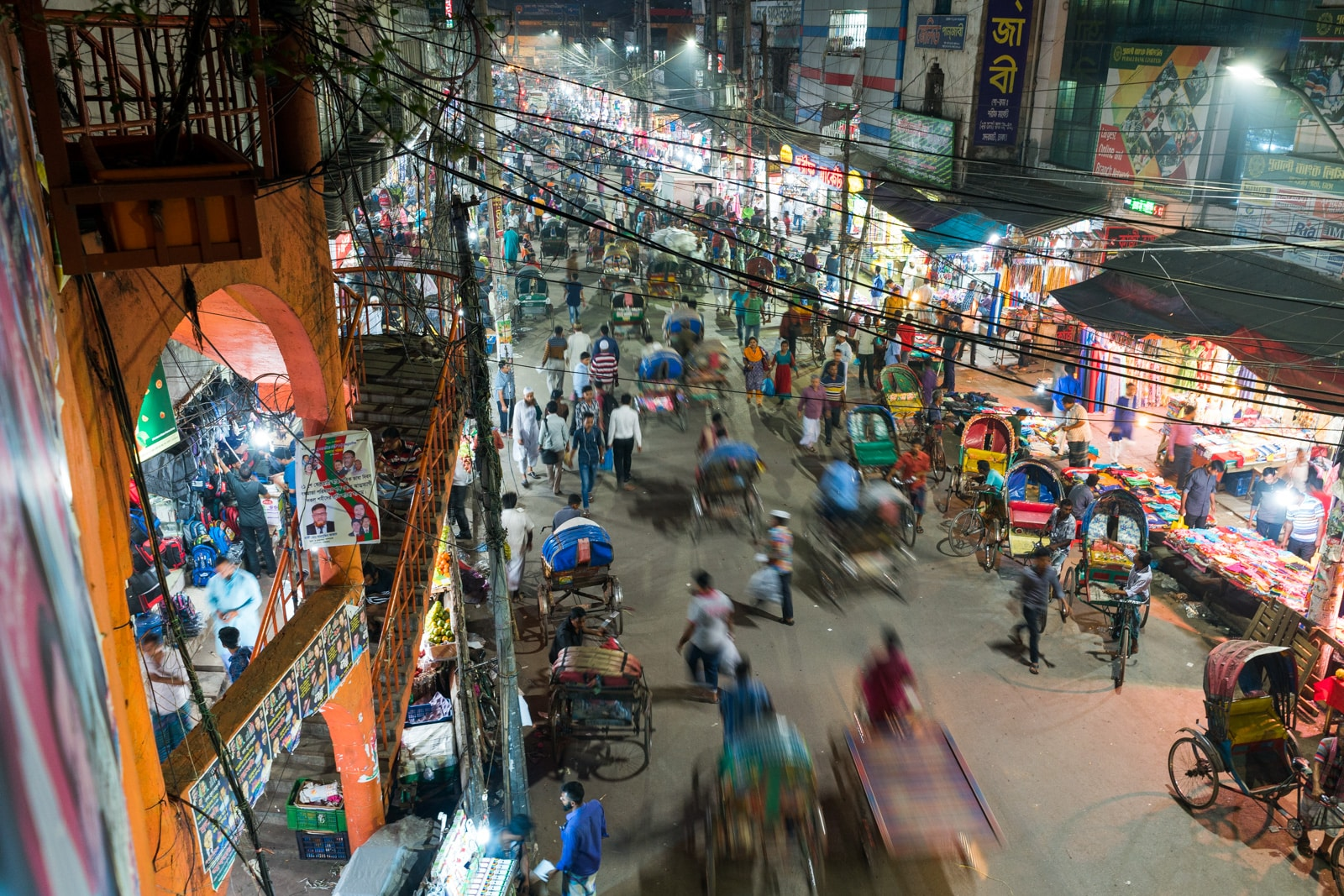 Travel guide to backpacking in Bangladesh - Busy road in Dhaka - Lost With Purpose travel blog