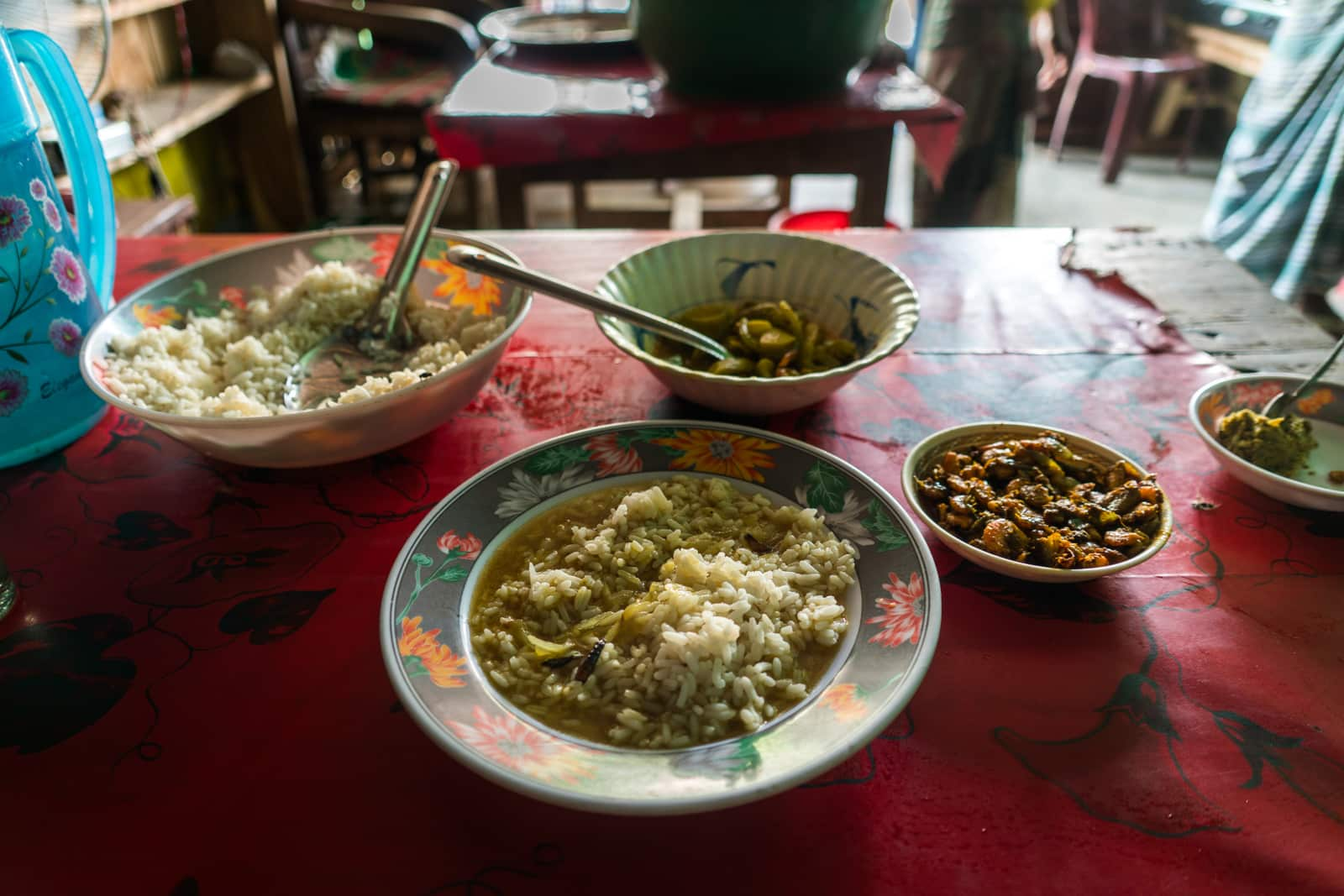 Travel guide to Nijhum Dwip, Bangladesh - Typical cheap lunch food on the island - Lost With Purpose travel blog